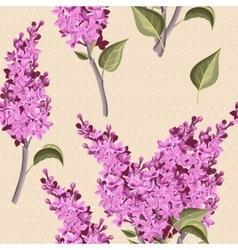 Vintage lilac seamless vector