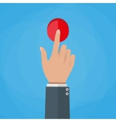 Hand touch button vector