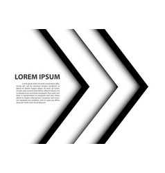 Abstract double black white arrow overlap vector