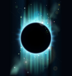 abstract eclipse background vector image vector image