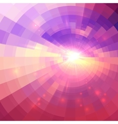 Abstract pink circle technology background vector image