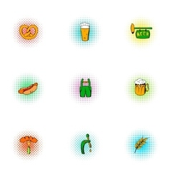 Ale icons set pop-art style vector