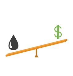 Balance between oil and dollar value dollar sign vector