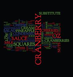 Best recipes cranberry salad squares text vector