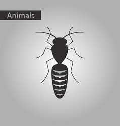 Black and white style icon of bee vector