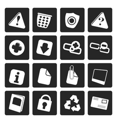 Black web site and computer icons vector