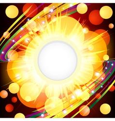 Brightly explosion web design vector