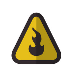 Caution flammable danger sign vector