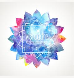 Chakra Vishuddha frame vector image vector image