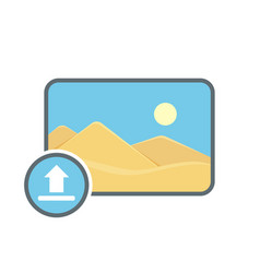 Image photo photography picture upload icon vector