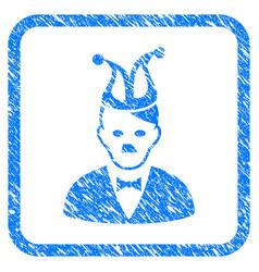 Joker hitler framed grunge icon vector