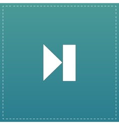 Next track web icon Media player vector image vector image
