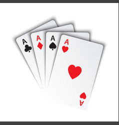 set of aces ace of spades herts clubs and vector image
