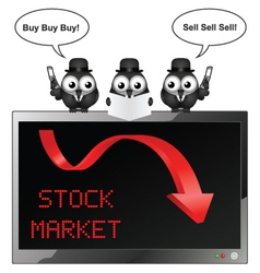Stocks and Shares vector image vector image