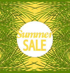 summer sale background with palm brochure vector image vector image
