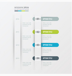 timeline design green blue gray color vector image vector image
