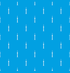 tower pattern seamless blue vector image