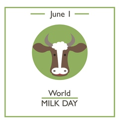 World milk day vector
