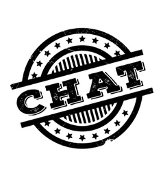 Chat rubber stamp vector