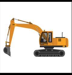 powerful excavator crawler vector image