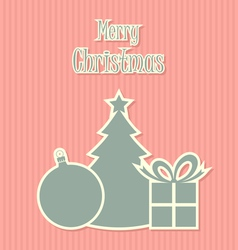 Retro style christmas decoration vector