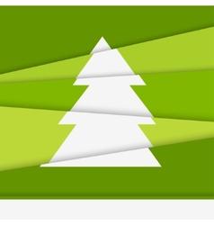 Creative Christmas tree card Asymmetric Christmas vector image