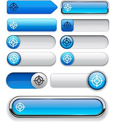 Aim high-detailed modern buttons vector