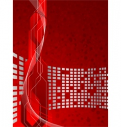 vector red futuristic background vector image