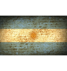 Flags of argentina with dirty paper texture vector