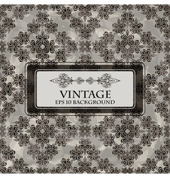 seamless grungy floral vintage vector image