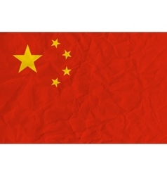 People republic of china paper flag vector