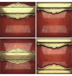 Golden background painted in red vector