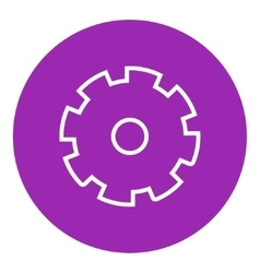 Gear line icon vector