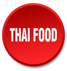 thai food red round flat isolated push button vector image