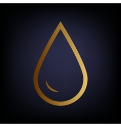 Drop of water sign vector