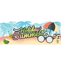 Summer holiday banner summer vacation concept vector