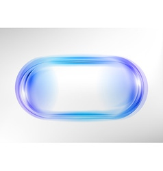 abstract shape white blue oval vector image