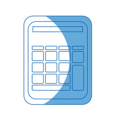 Calculator math school accounting buttons vector