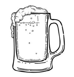 Cartoon image of beer in glass vector