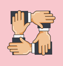 charity crossed arms team work help vector image
