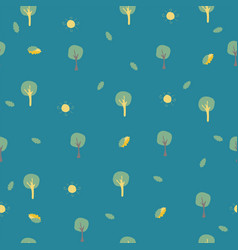 Childish design with small trees on colorful vector