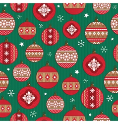 christmas bauble pattern vector image