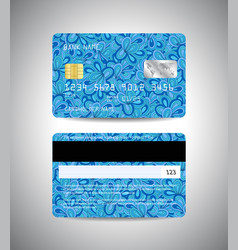 credit cards set with floral background design vector image vector image