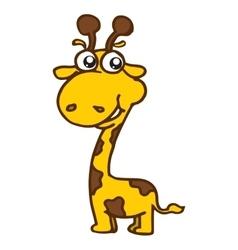 Cute giraffe cartoon T-Shirt design vector image vector image