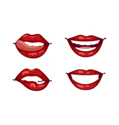Female lips isolated vector image vector image