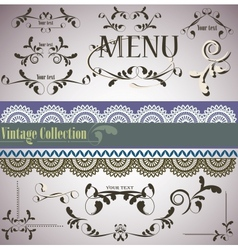 filigree vintage elements vector image