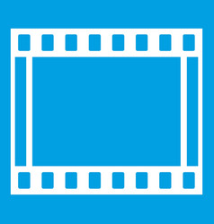 Film with frames movie icon white vector