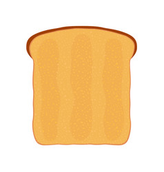 Fried bread toast for breakfast flat style vector