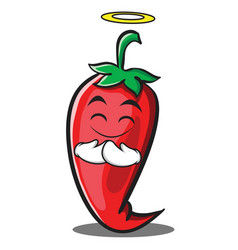 Innocent red chili character cartoon vector