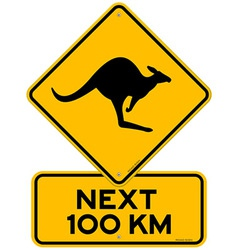Kangaroos next 100 km vector